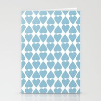 Diamond Hearts Repeat Bl… Stationery Cards