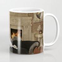 Smoking Vintage Caniche (Poodle). Mug