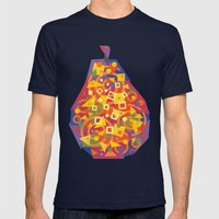 Pear (Poire) Mens Fitted Tee Navy SMALL