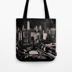New York Black and White Tote Bag