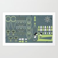 Xmas Night Art Print