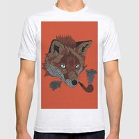 FOX&PIPE Mens Fitted Tee Ash Grey SMALL