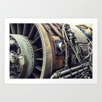Jet Engine Art Print