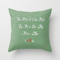 Math love Throw Pillow