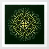 Trepadora Verde Art Print