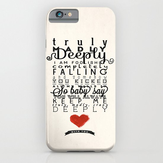 One Direction: Truly Madly Deeply iPhone & iPod Case