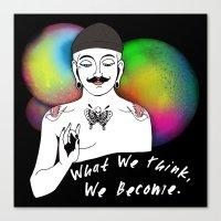 Hipster Buddha Canvas Print