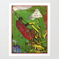 Super Lego Monorails In … Art Print