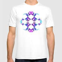 SACCA Mens Fitted Tee White SMALL