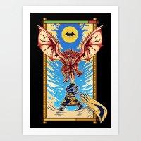 Epic Monster Hunter Art Print