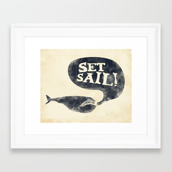 Set Sail! Framed Art Print