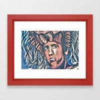 Another Birck Head Framed Art Print