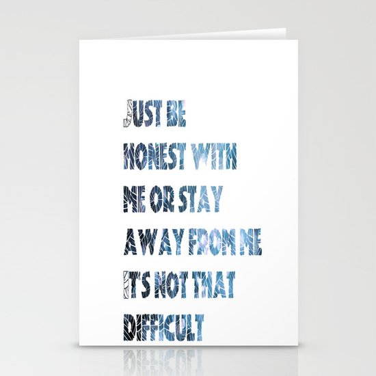 be honest Stationery Card