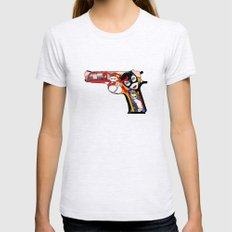 gun Womens Fitted Tee Ash Grey SMALL