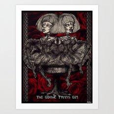 Gothic Twins Art Print