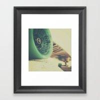 Skate Or Die    Curb Sto… Framed Art Print