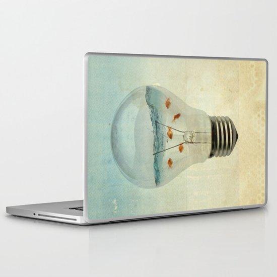 blue sea thinking Laptop & iPad Skin