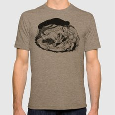 Bird in the Bush Mens Fitted Tee Tri-Coffee SMALL