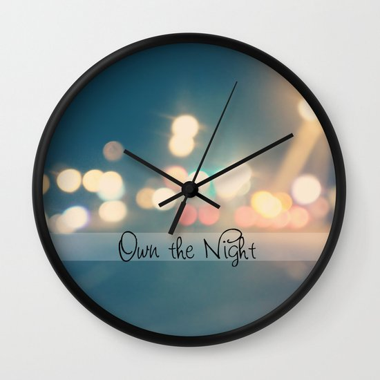 Own the Night Wall Clock