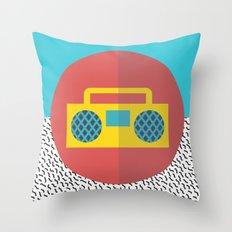 Nice People Like Music Throw Pillow