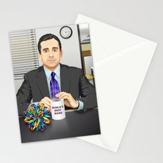Steve Carell as Michael Scott (The Office) Stationery Cards