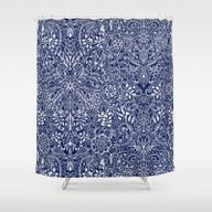 Detailed Floral Pattern … Shower Curtain