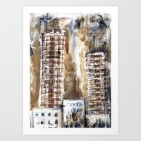 Construction City #1 Art Print