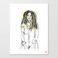 First Hello No.2 (tan) Canvas Print