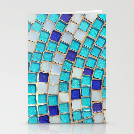 Blue Tiles - an abstract photograph. Stationery Card
