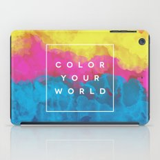 Color Your World iPad Case