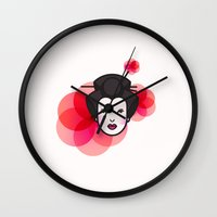 Geisha Icon Wall Clock