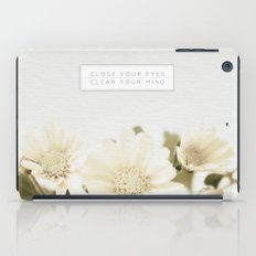 Close Your Eyes | Clear Your Mind iPad Case