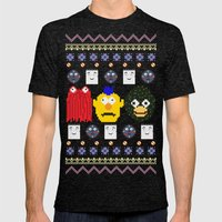 Don't Hug Me I'm Sweater Mens Fitted Tee Tri-Black SMALL