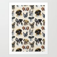 Just Some Dogs Art Print