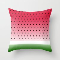 Juicy Watermelon Throw Pillow