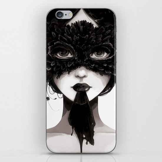 La veuve affamee iPhone & iPod Skin