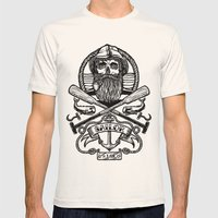 SAILOR SKULL Mens Fitted Tee Natural SMALL