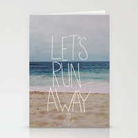 Let's Run Away: Sandy Be… Stationery Cards