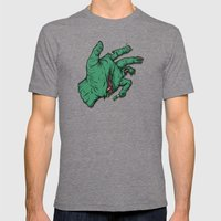 Addict's Hand Mens Fitted Tee Tri-Grey SMALL