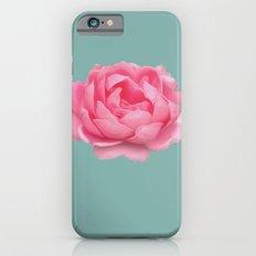 Rose on mint iPhone 6s Slim Case