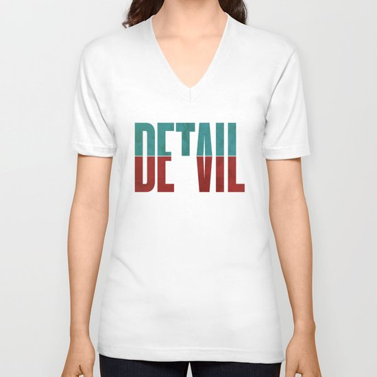 Devil in the detail. V-neck T-shirt