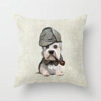 Sir Dandie Dinmont Terrier Throw Pillow