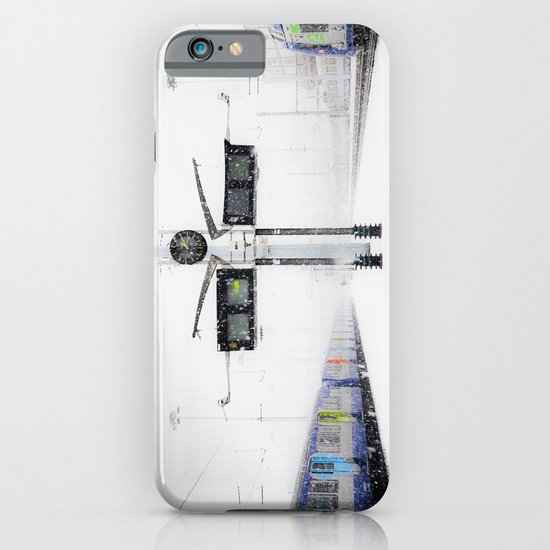 blizzard in Paris iPhone & iPod Case