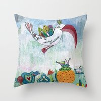 Bird of Possibility Throw Pillow