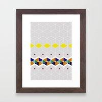 Cube Geometric IV Framed Art Print