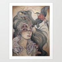 The Dodo's Widow art print Art Print