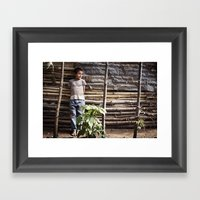 The Wattle Mud Wall Framed Art Print