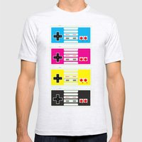 CMYK Retro Gamer  Mens Fitted Tee Ash Grey SMALL