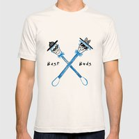 Best Buds I Mens Fitted Tee Natural SMALL