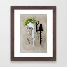 unimpressed wood nymph Framed Art Print